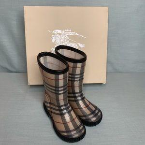 Unisex Burberry Children's Rain Boots US Size 9/10